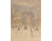 Washington Square in the Snow - (SOLD)